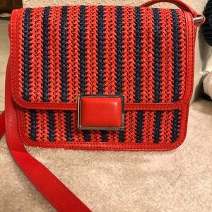 Marc by Marc Jacobs Orange/Red blue woven handbag
